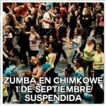 Zumba en Chimkowe se suspende este domingo 1 de septiembre