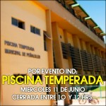 Miércoles 11 Junio: Piscina cerrará entre 10 y 12 hrs.