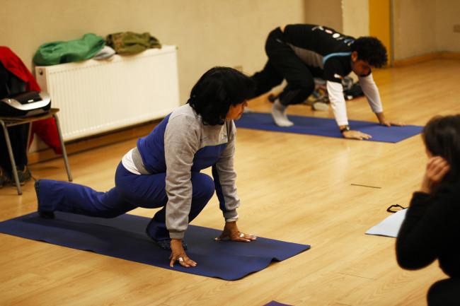 Hatha Yoga en Chimkowe con Cristina Salazar.