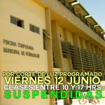 Por corte programado de electricidad, Piscina Temperada modificará horarios el 12 de junio