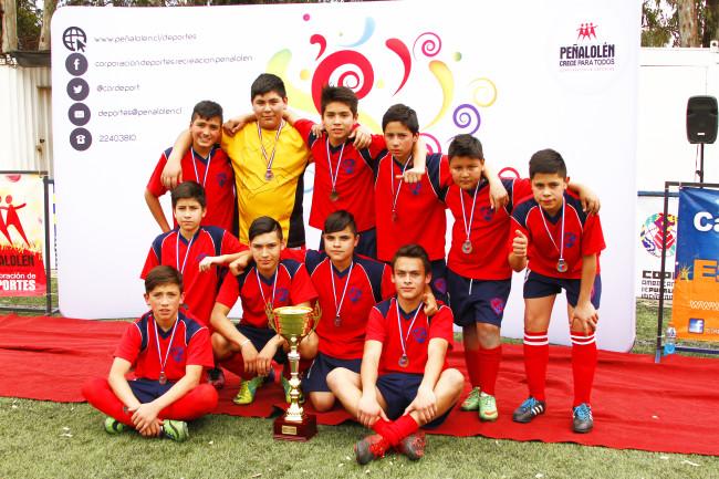 Colegio Welcome School, Campeón de la Categoría Varones Sub 14.