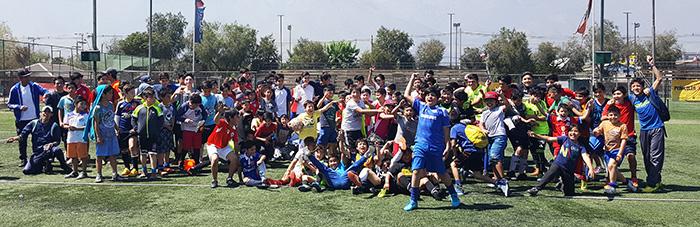 """Alumnos de los talleres de Baby Fútbol del programa """"Deporte en tu Barrio"""", ciclo 2."""
