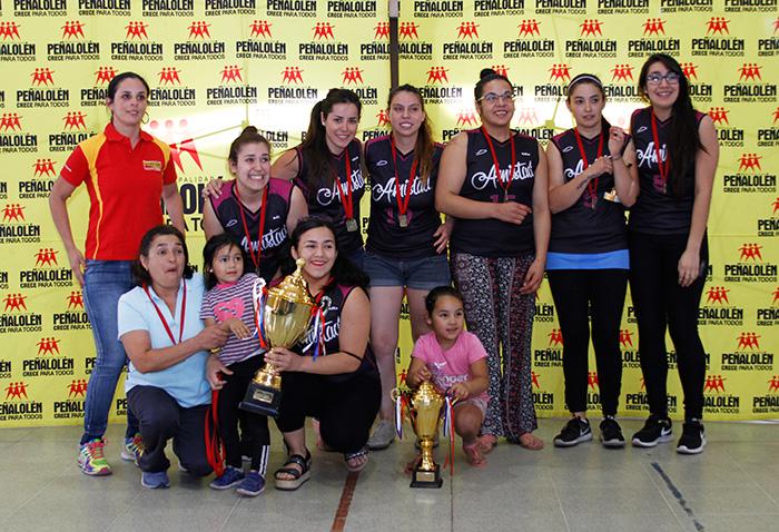 Amistad 1, Campeonas de la categoría Damas 2016
